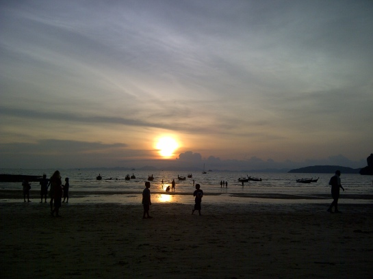 pina colada sunsets: railay beach